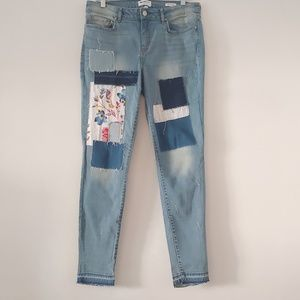 William Rast. Perfect skinny patched jeans.